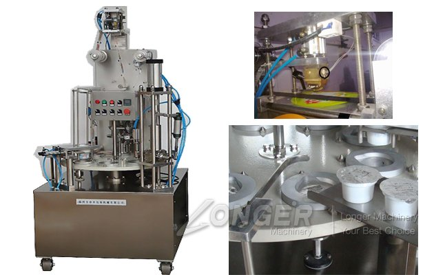 Rotary Roll Film Soybean Cup Sealing Machine